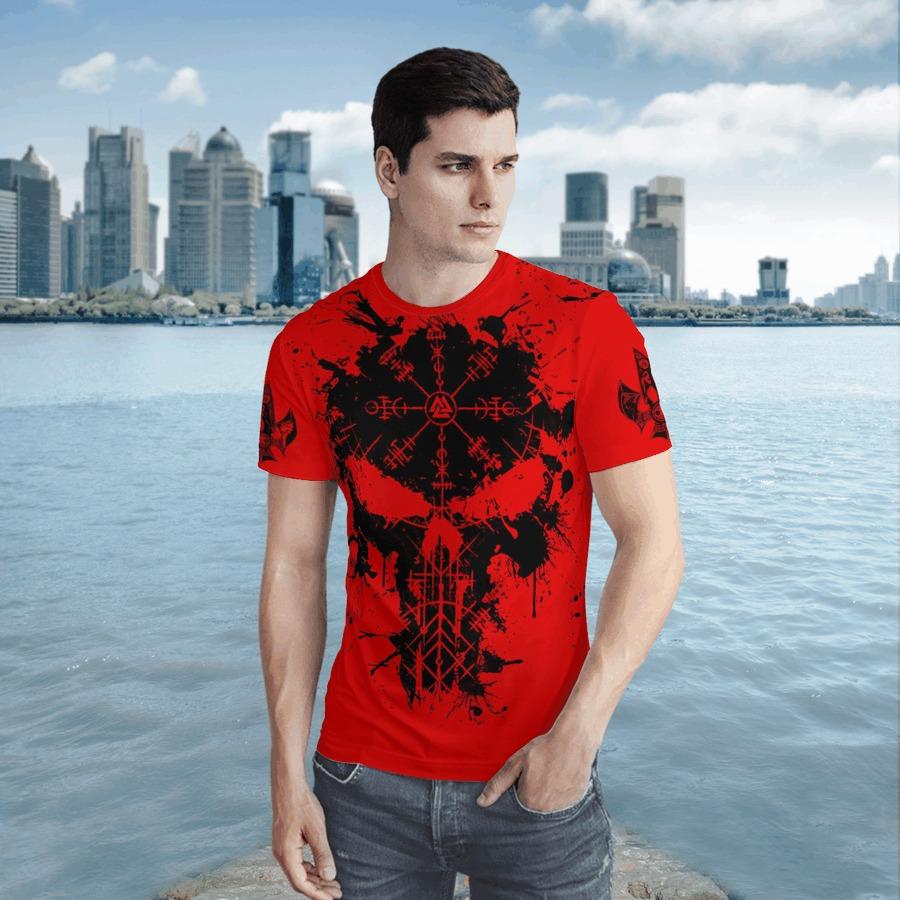 Raven vegvisir 3D T shirt3
