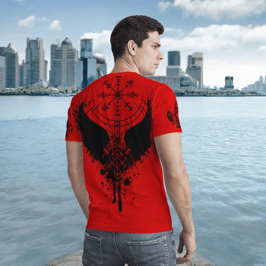 Raven vegvisir 3D T shirt2
