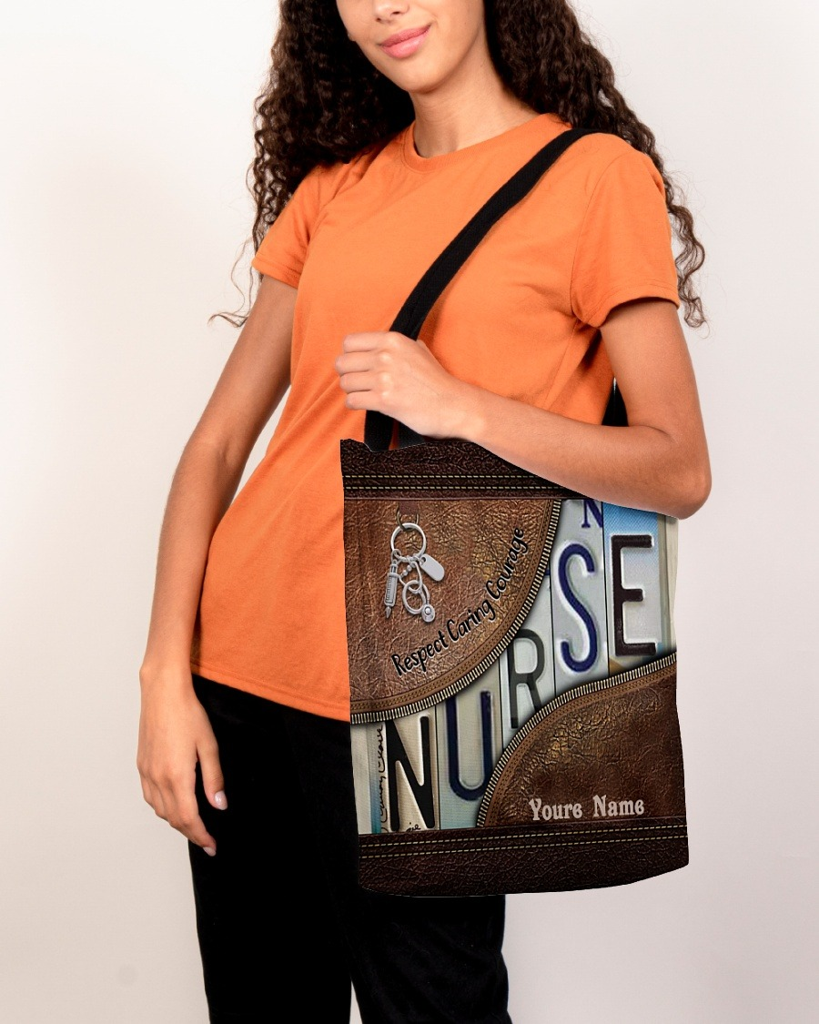 Respect caring courage custom name tote bag3