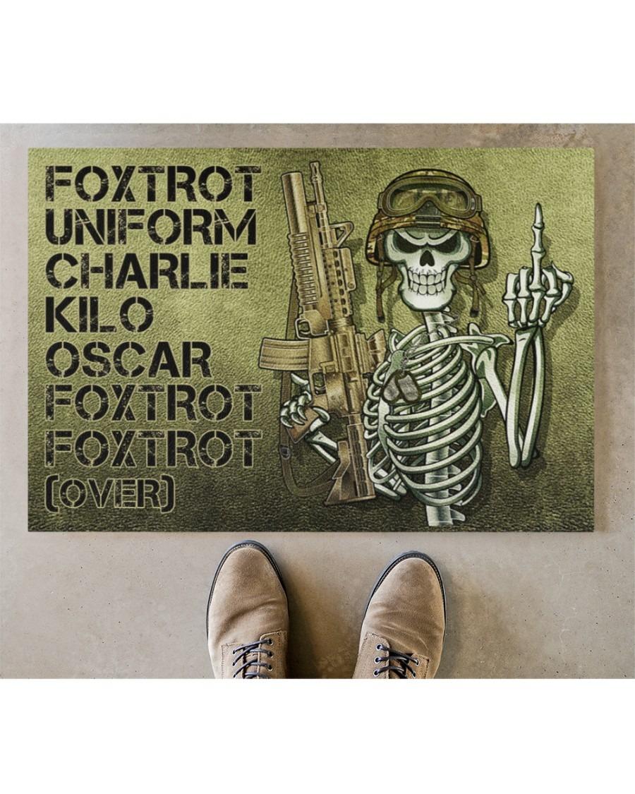 Skeleton Foxtrot uniform charlie kilo oscar doormat3