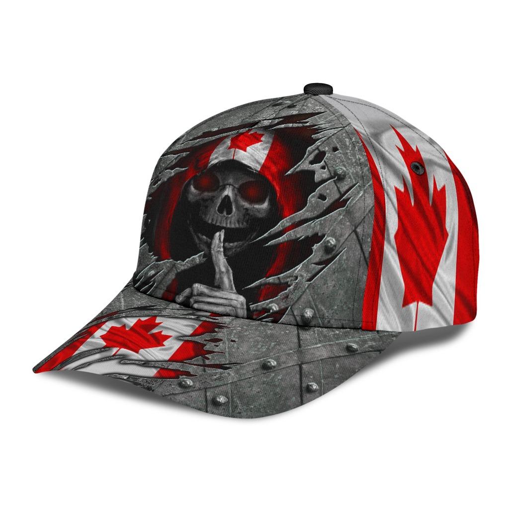 Skull canada flag classic cap2