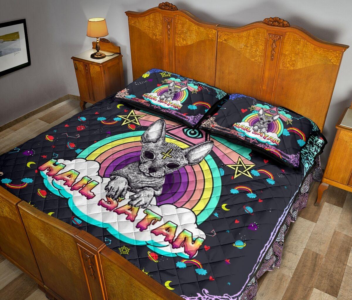 Sphyn hail satan quilt bedding set3