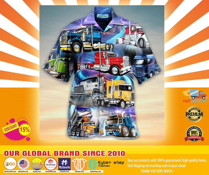 Trucks are like kisses you cant just have one unisex hawaiian shirt4