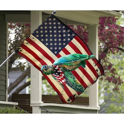 Turtle American US flag3