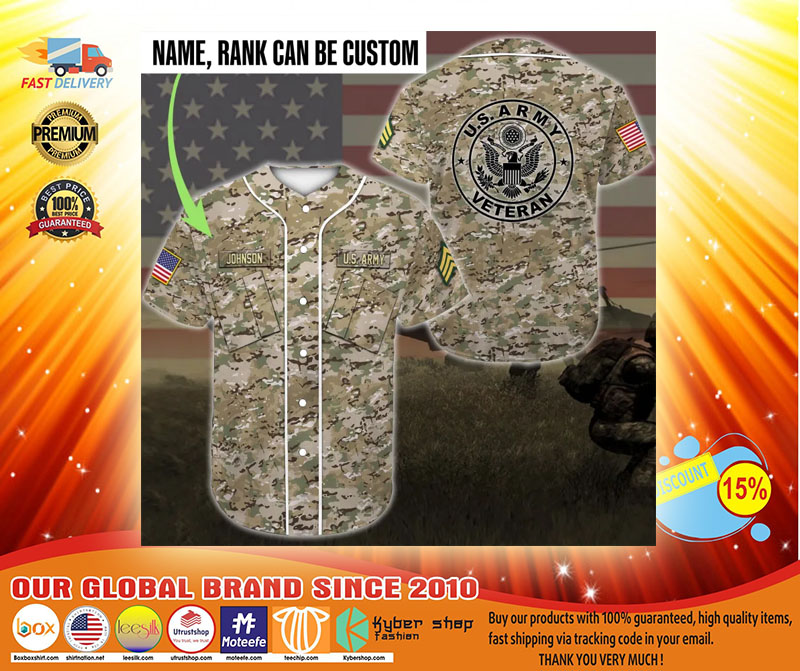 US army veteran custom name Baseball Jersey3