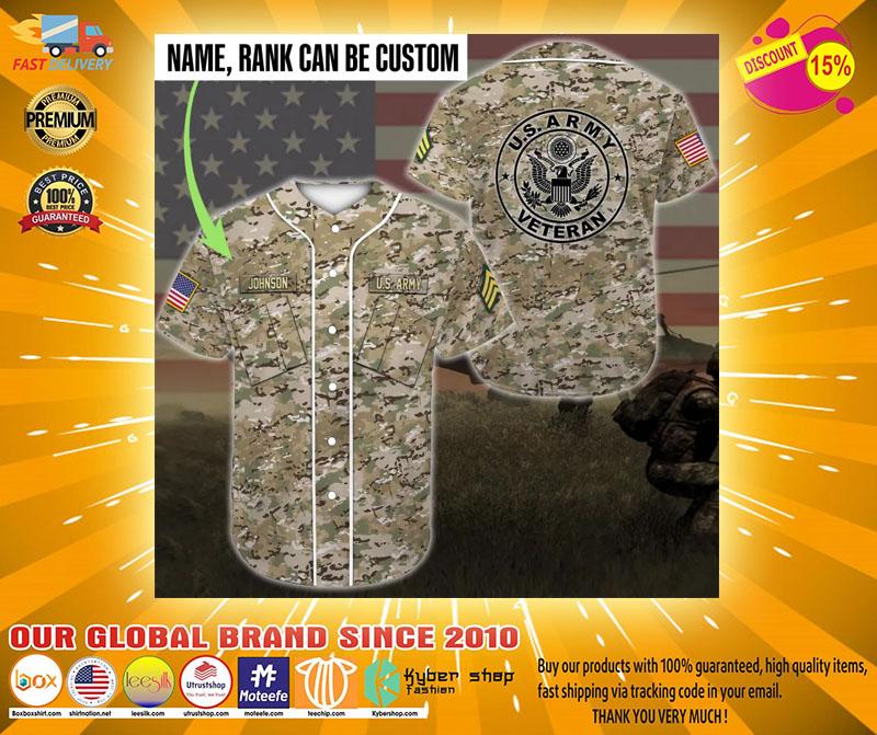 US army veteran custom name Baseball Jersey2