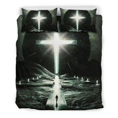 Way to cross light with person bedding set4