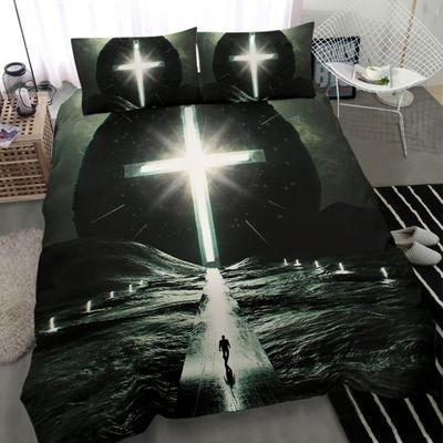Way to cross light with person bedding set2