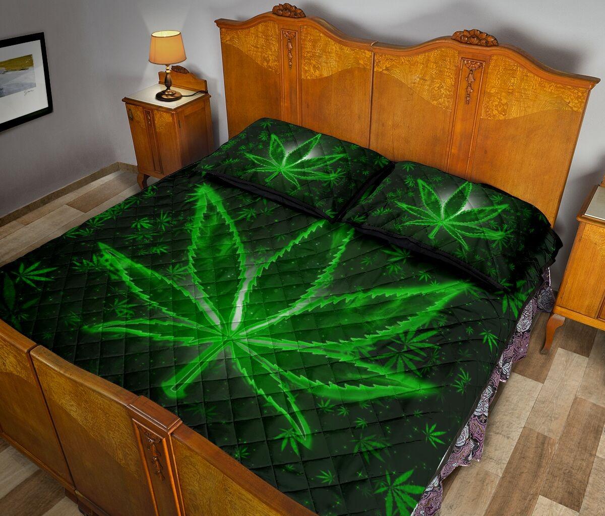 Weeds quilt bedding set3