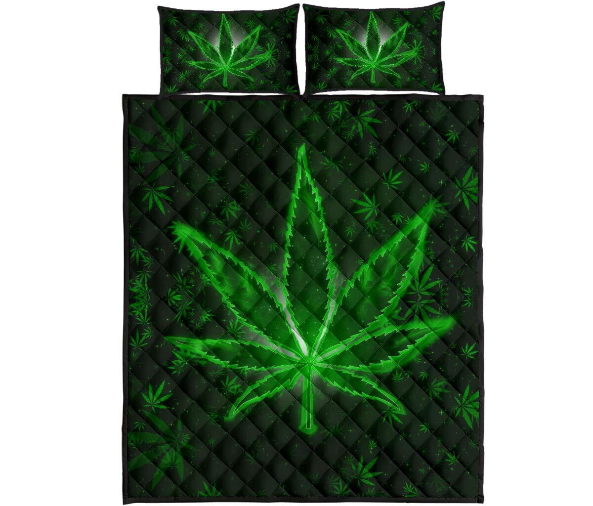 Weeds quilt bedding set4