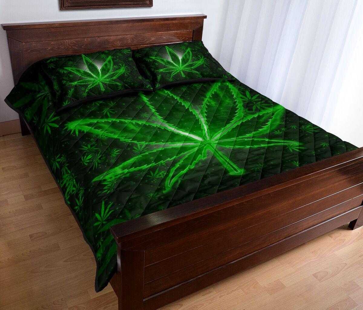 Weeds quilt bedding set2