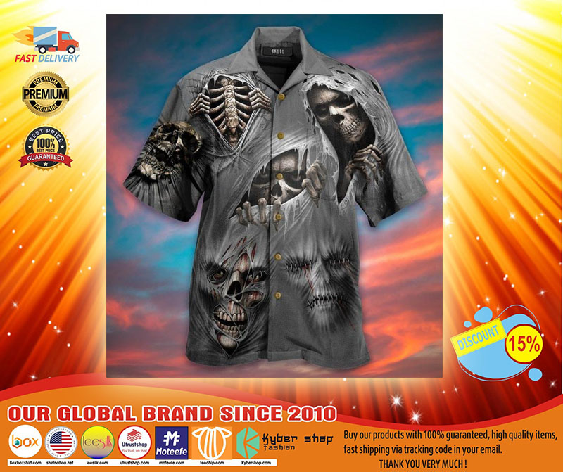 What scares you excites me skull hawaiian shirt3