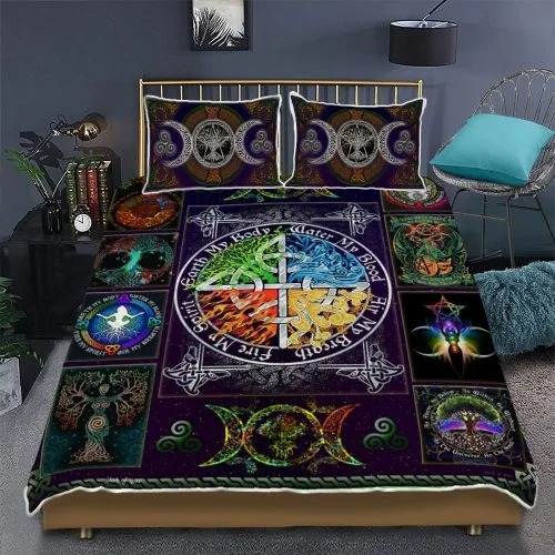 Wiccan witch pagan quilt bedding set2