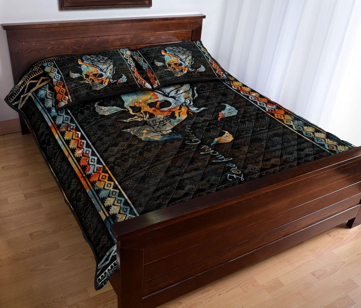 Zero fucks given quilt bedding set2