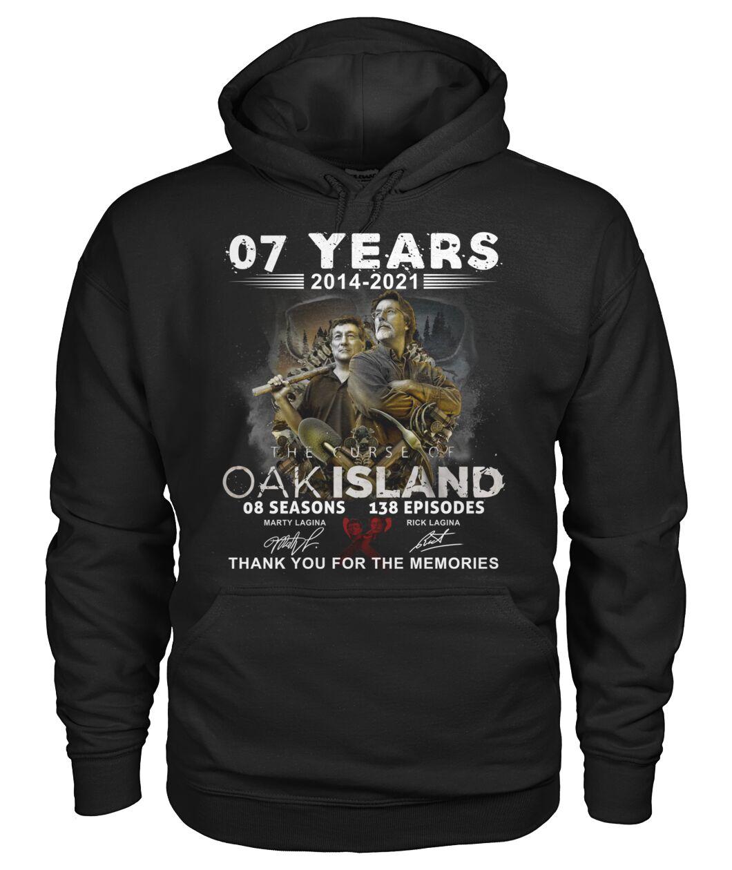07 years 2014 2021 OAK island 08 seasons thank you for memories shirt 11