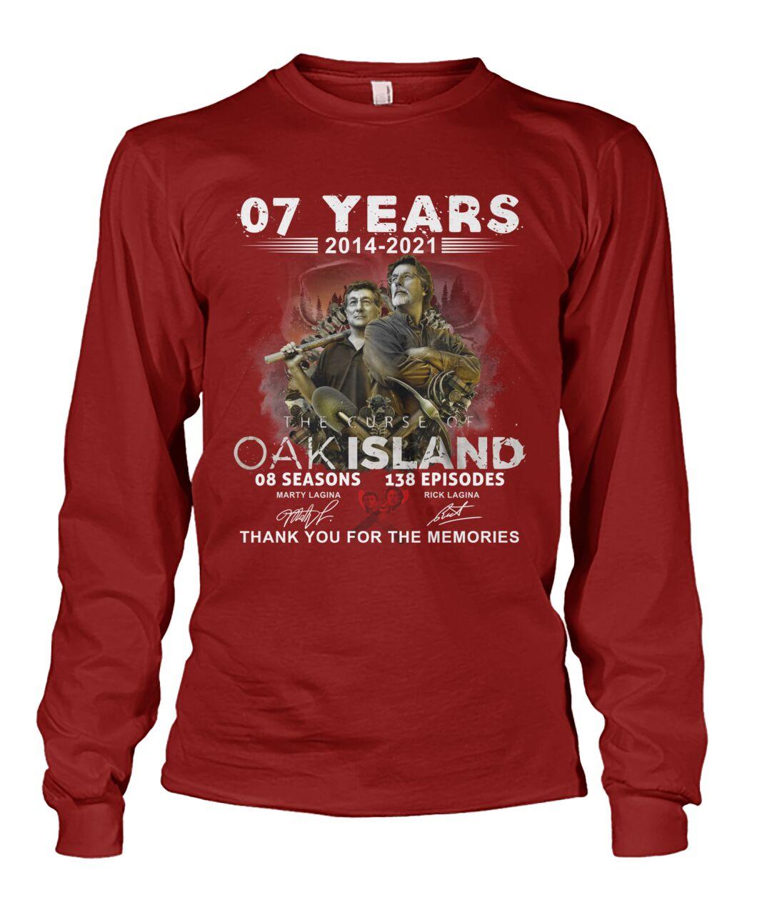 07 years 2014 2021 OAK island 08 seasons thank you for memories shirt 12