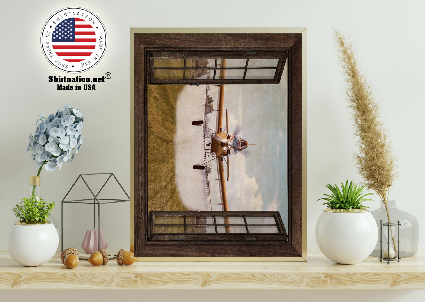 Agricultural Aircraft Window View poster 11