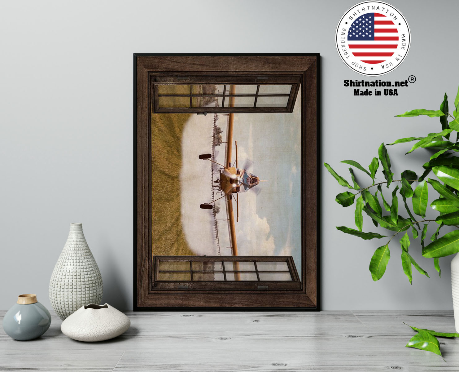 Agricultural Aircraft Window View poster 13