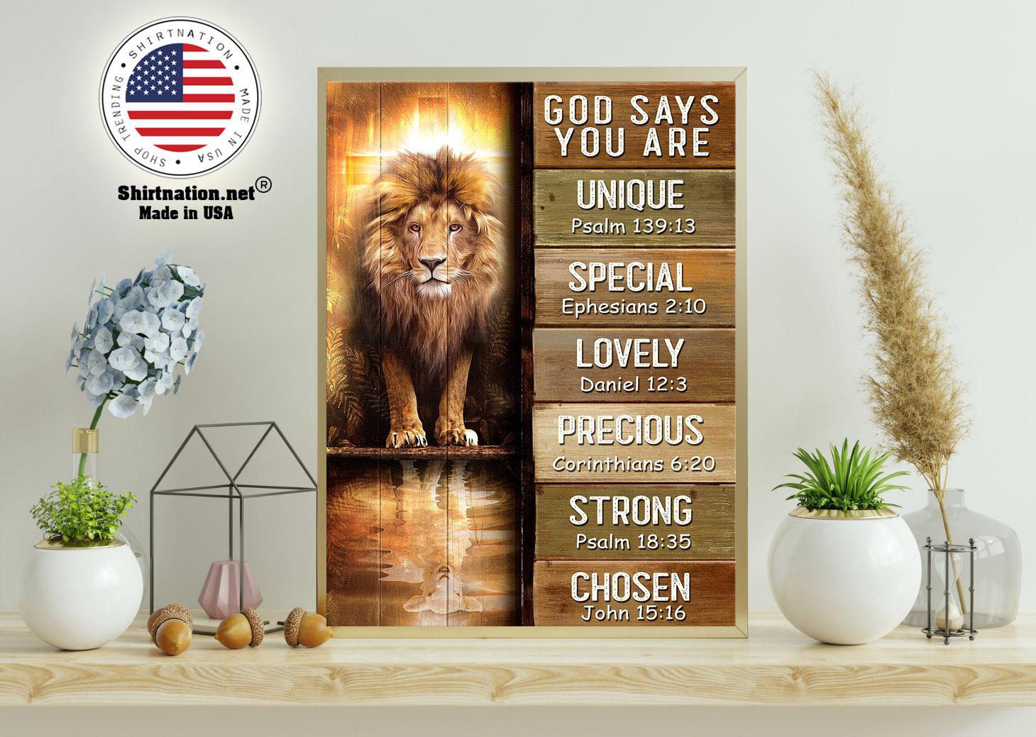 Amazing lion god says you are unique poster 11
