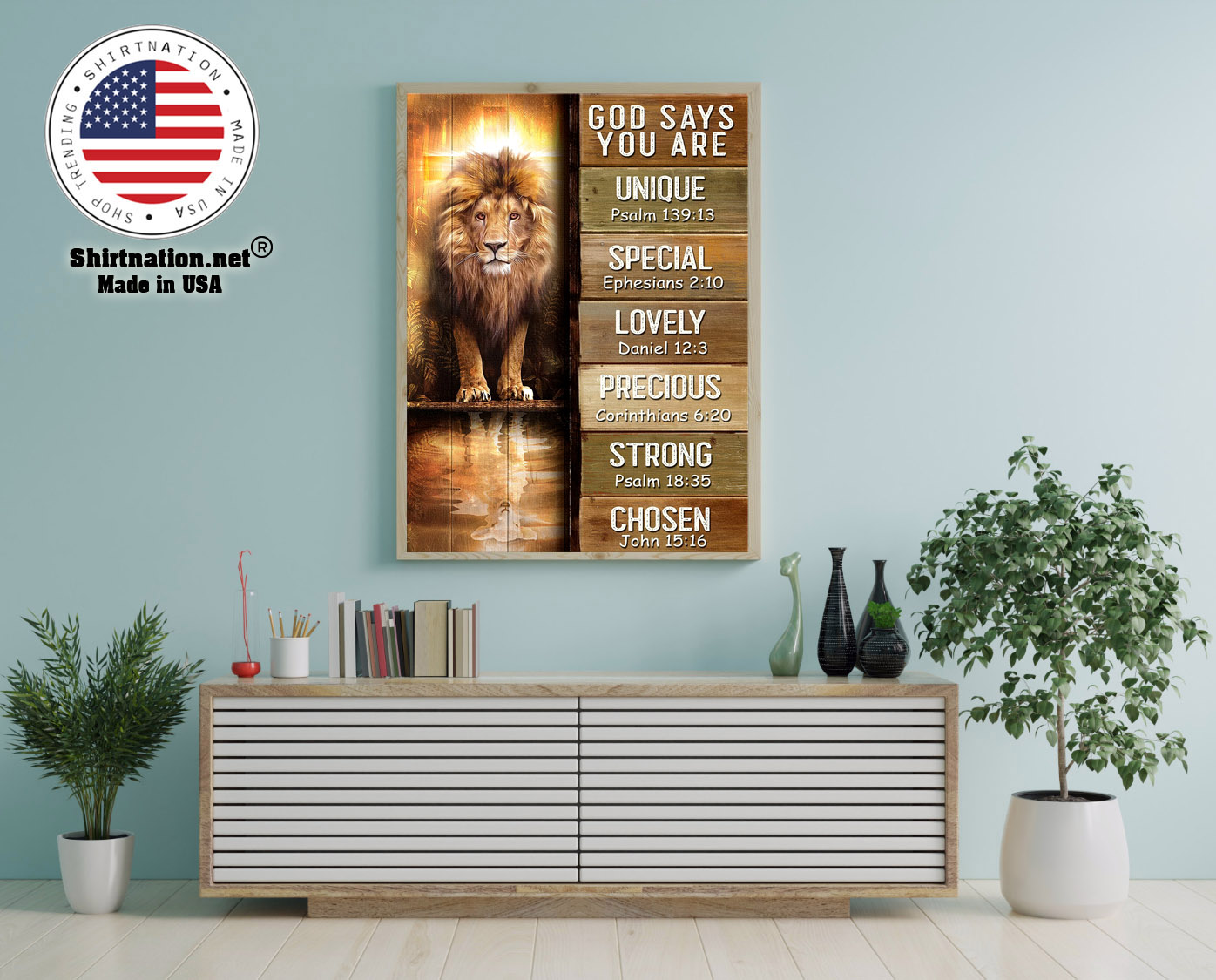 Amazing lion god says you are unique poster 12