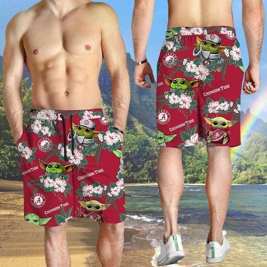 Arkansas Razorbacks And Yoda Hawaiian And Beach Short3