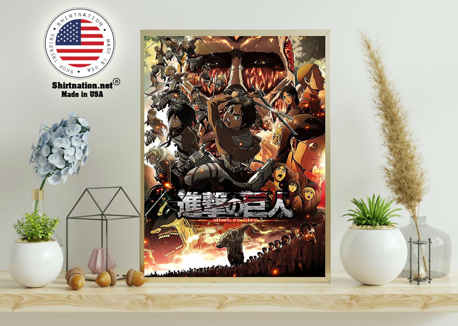 Attack on Titan Japanese Anime poster 11