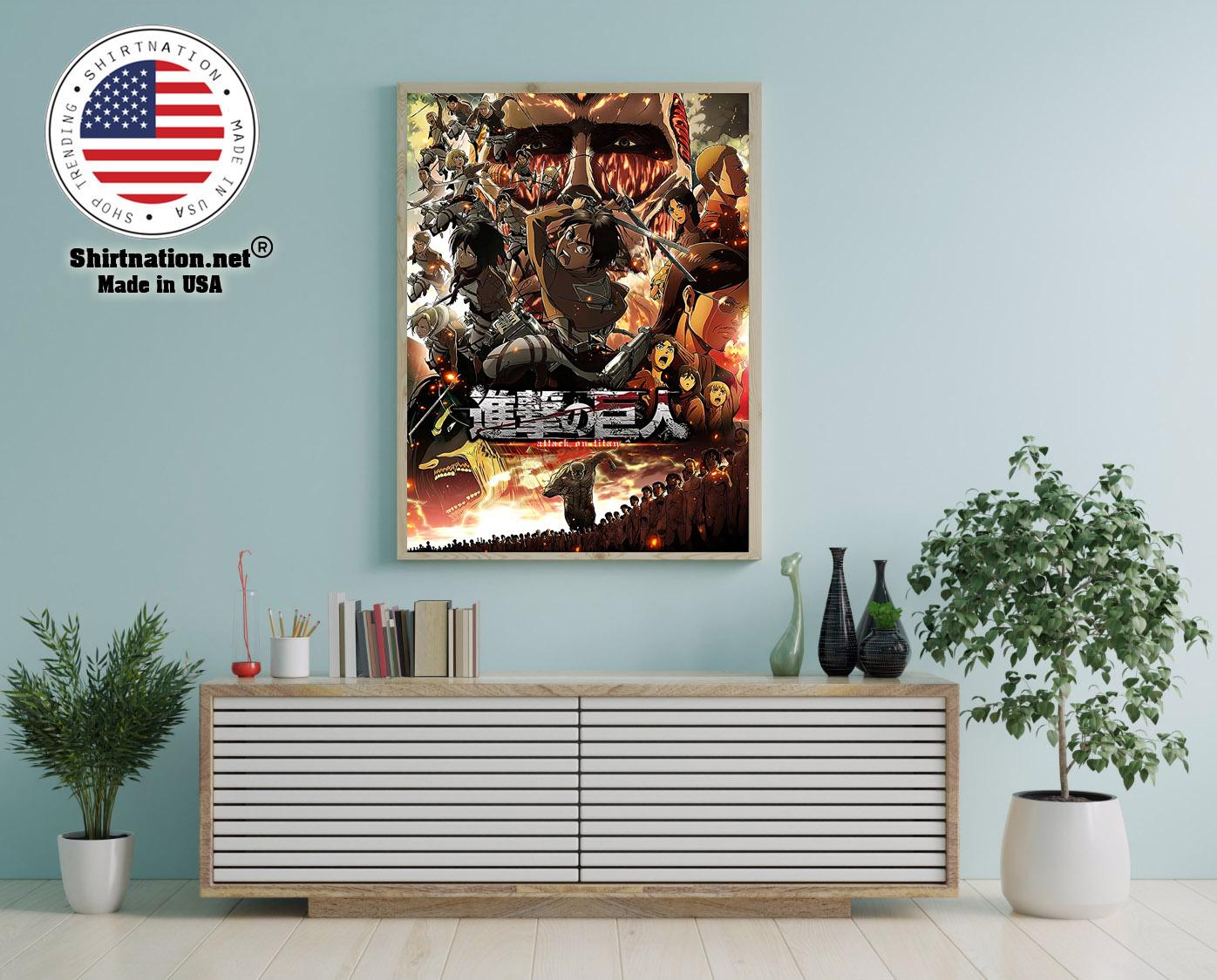 Attack on Titan Japanese Anime poster 12