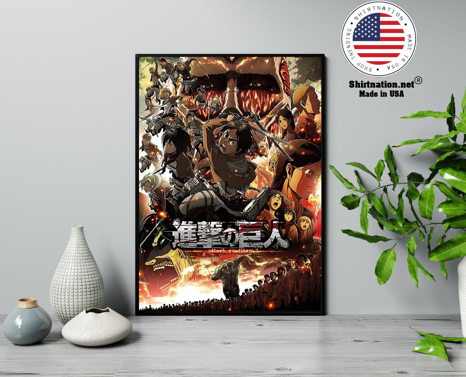 Attack on Titan Japanese Anime poster 13
