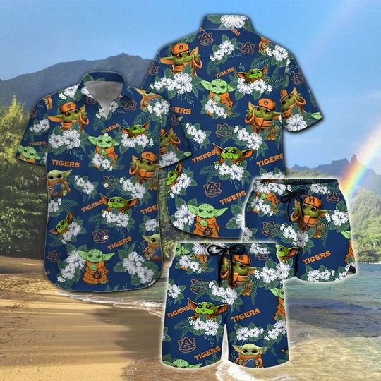 Auburn Tigers And Yoda Hawaiian And Beach Short1
