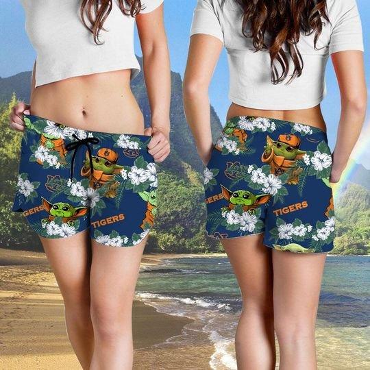 Auburn Tigers And Yoda Hawaiian And Beach Short4