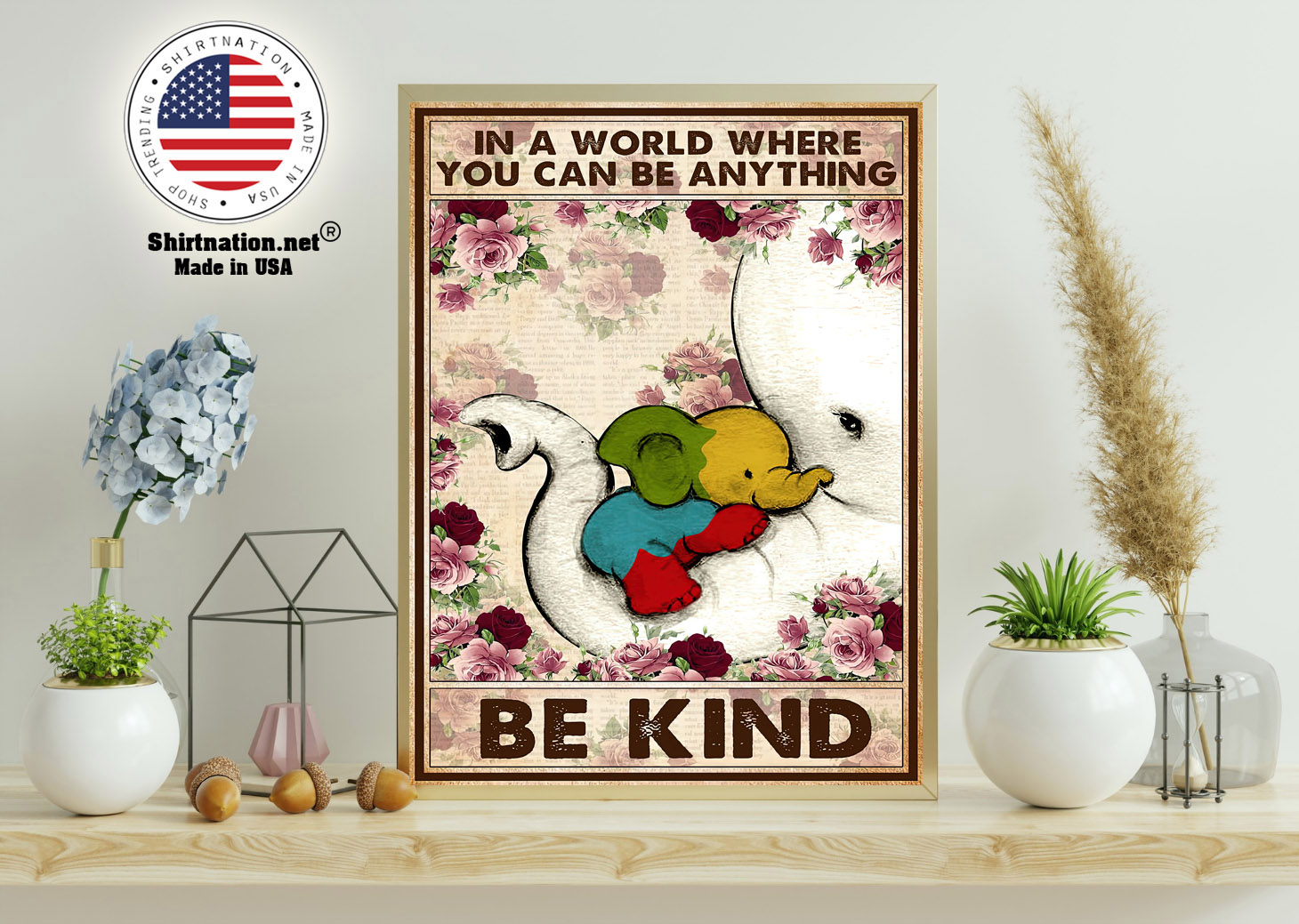 Autism Elephant In a world where you can be anything be kind poster 11