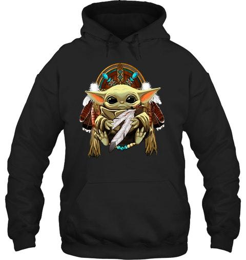 Baby yoda Native American shirt 11