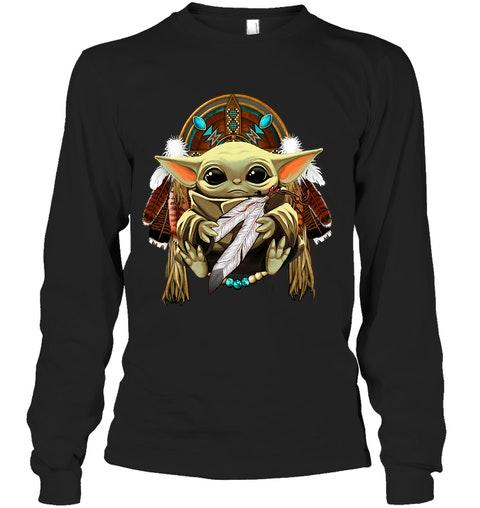 Baby yoda Native American shirt 12