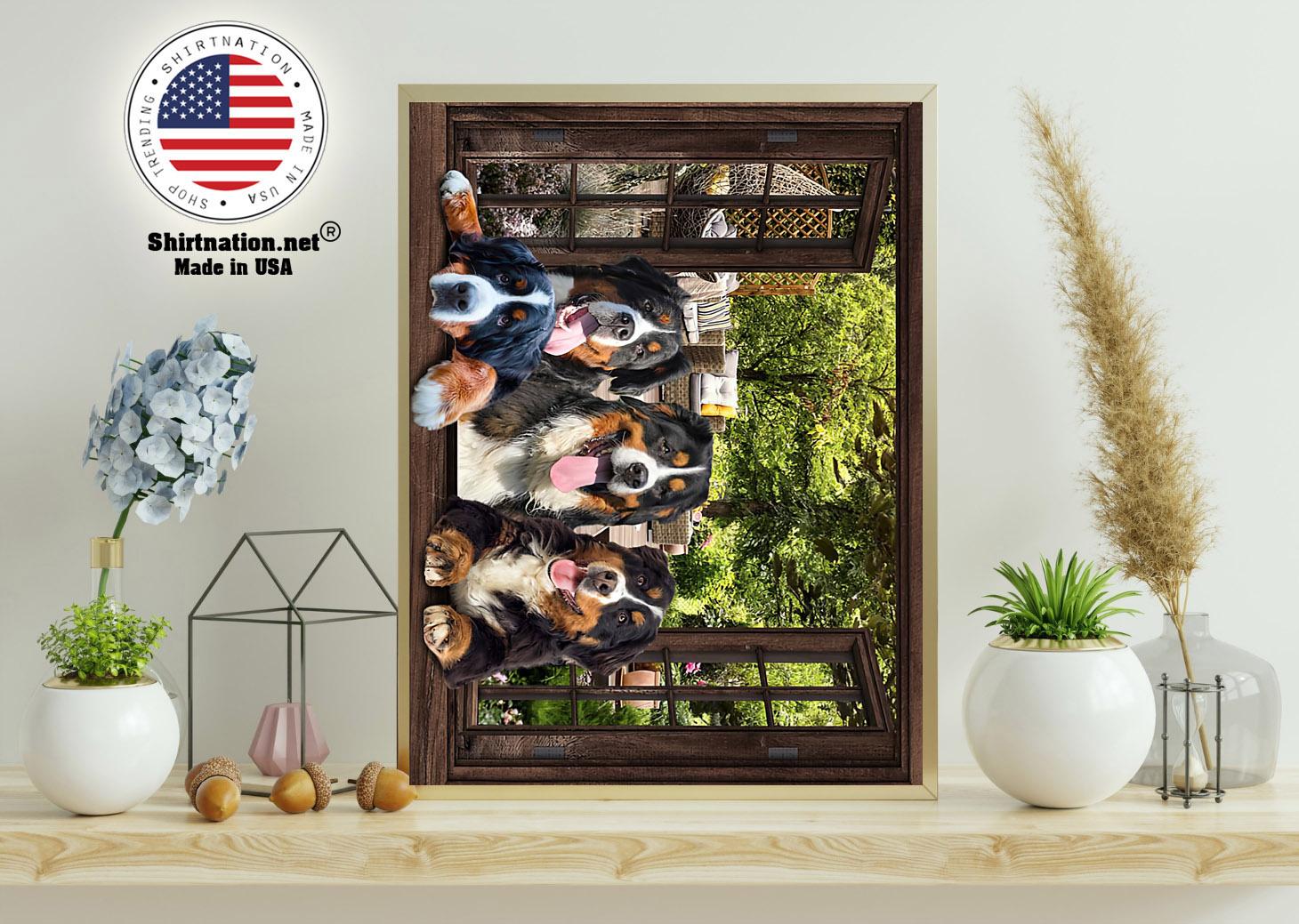 Bernese Mountain dog window 3d poster 11