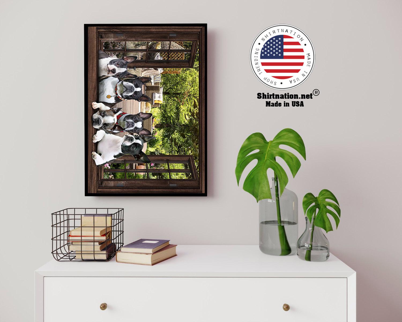Boston Terrier window 3d poster 14