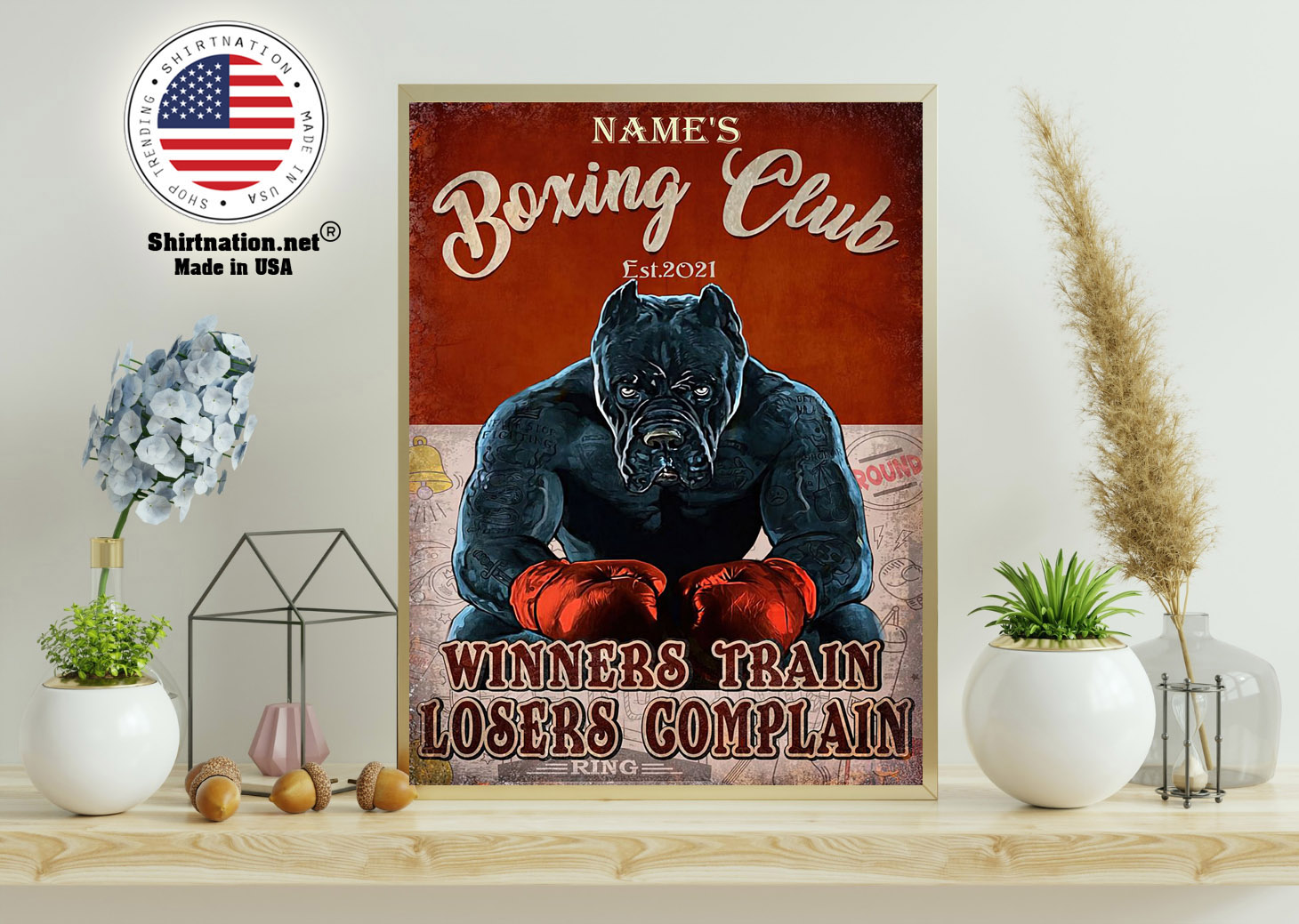 Boxing club winners train losers complain poster 11