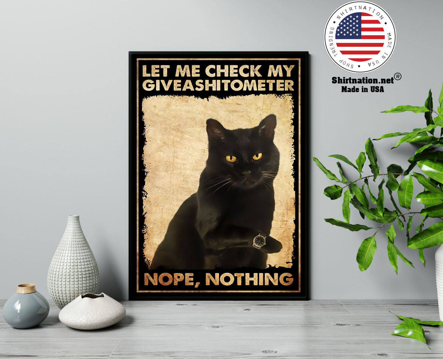 Cat let me check my giveashitometer nope nothing poster 13