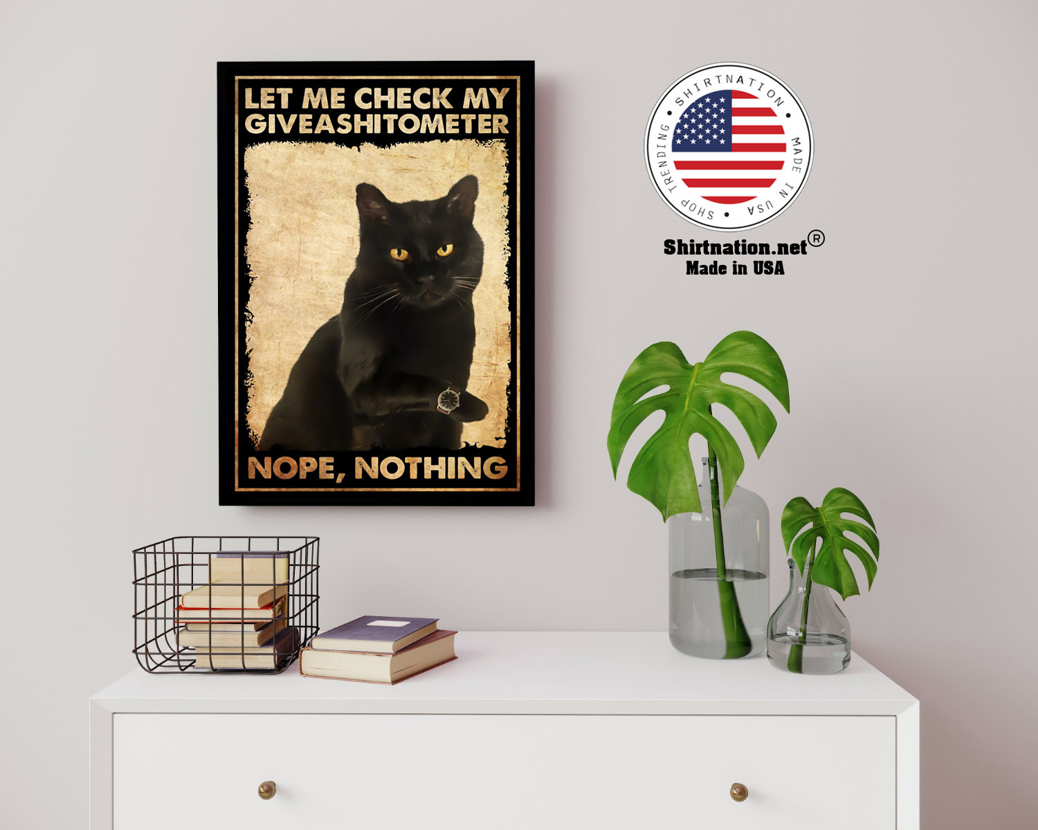 Cat let me check my giveashitometer nope nothing poster 14