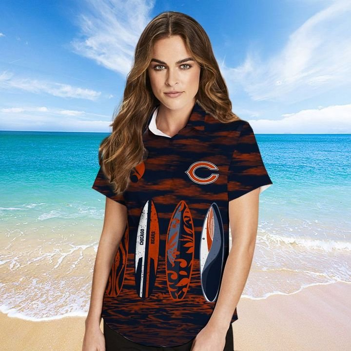Chicago Bears HAWAIIAN And Beach SHORT2