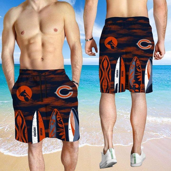 Chicago Bears HAWAIIAN And Beach SHORT3