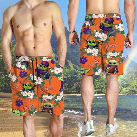 Clemson Tigers And Yoda Hawaiian And Beach Short 3