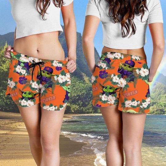 Clemson Tigers And Yoda Hawaiian And Beach Short 4