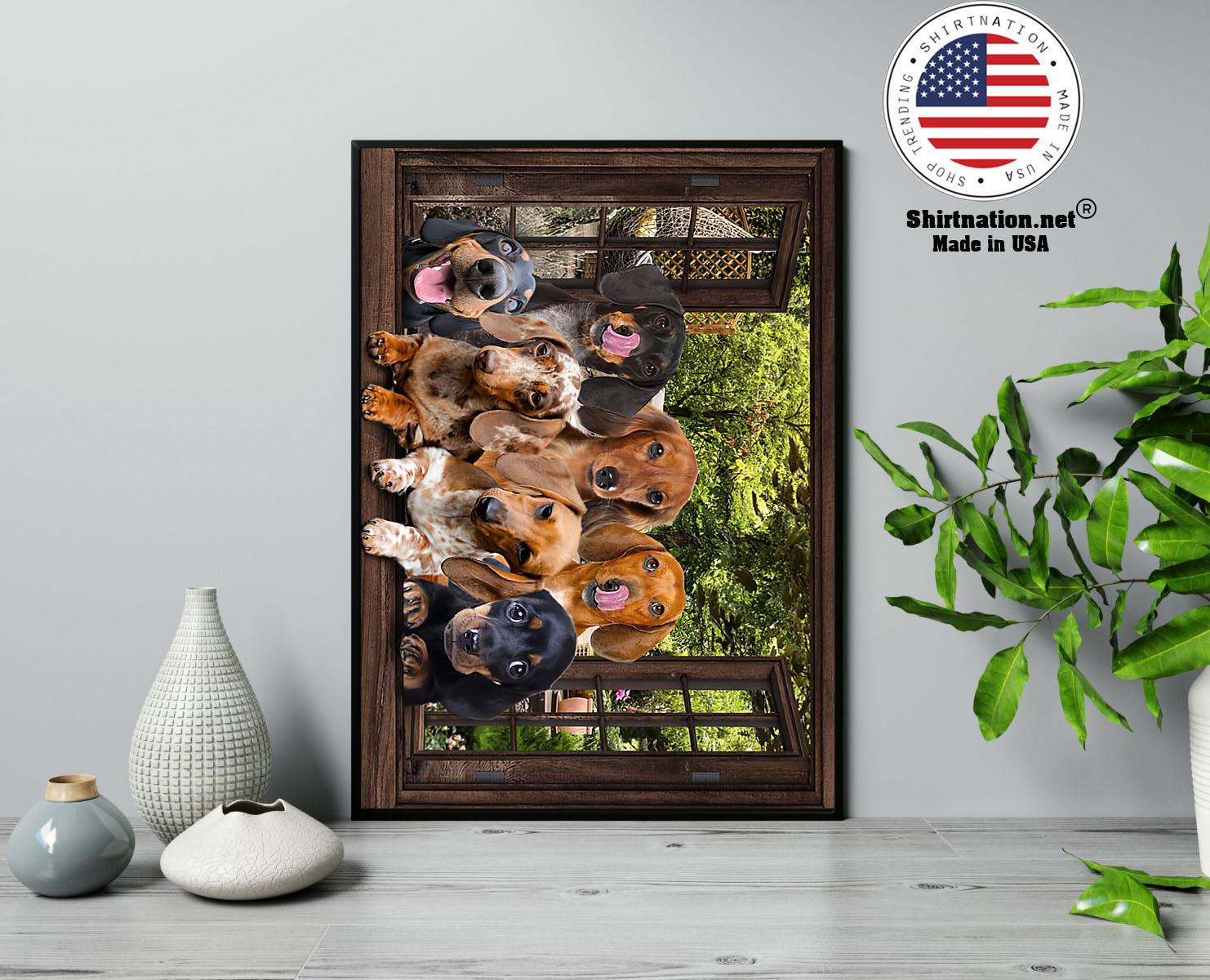 Dachshund window 3d poster 13