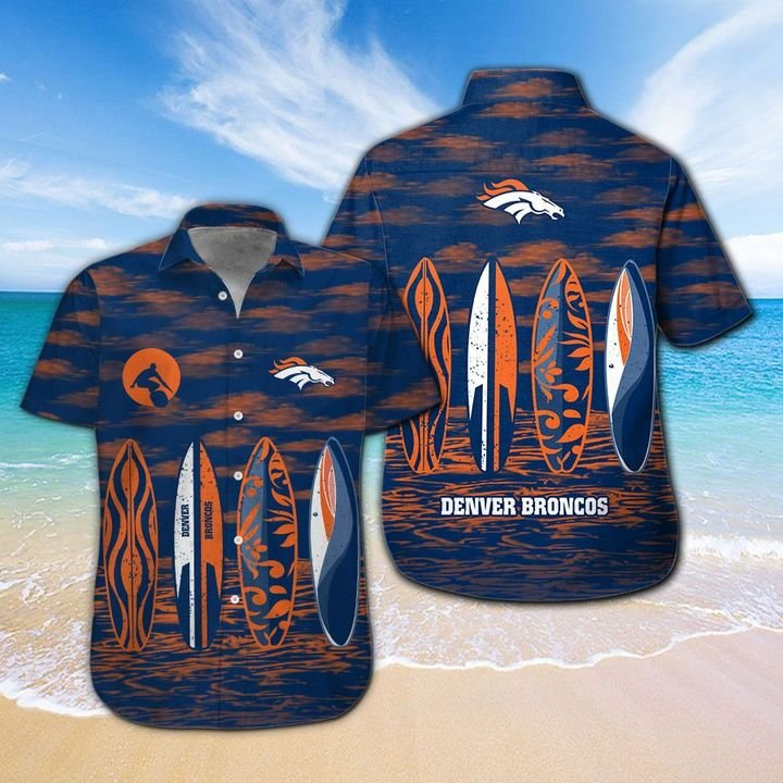Denver Broncos HAWAIIAN And Beach SHORT