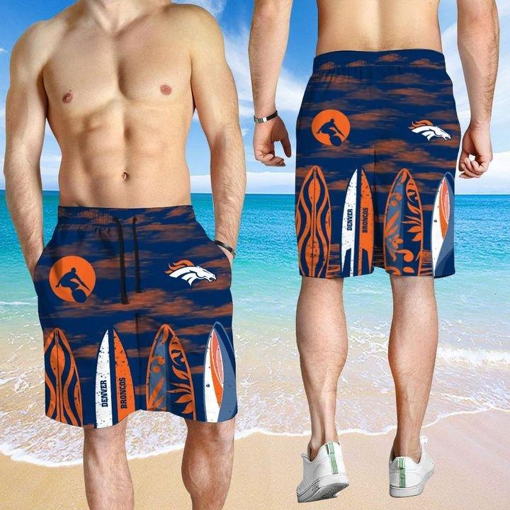 Denver Broncos HAWAIIAN And Beach SHORT3