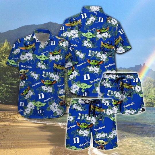 Duke Blue Devils And Yoda Hawaiian And Beach Short 1