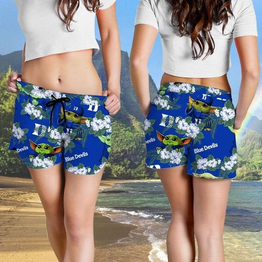 Duke Blue Devils And Yoda Hawaiian And Beach Short 4