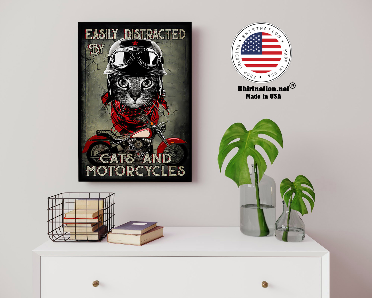 Easily distracted by cats and motorcycles poster 14 1