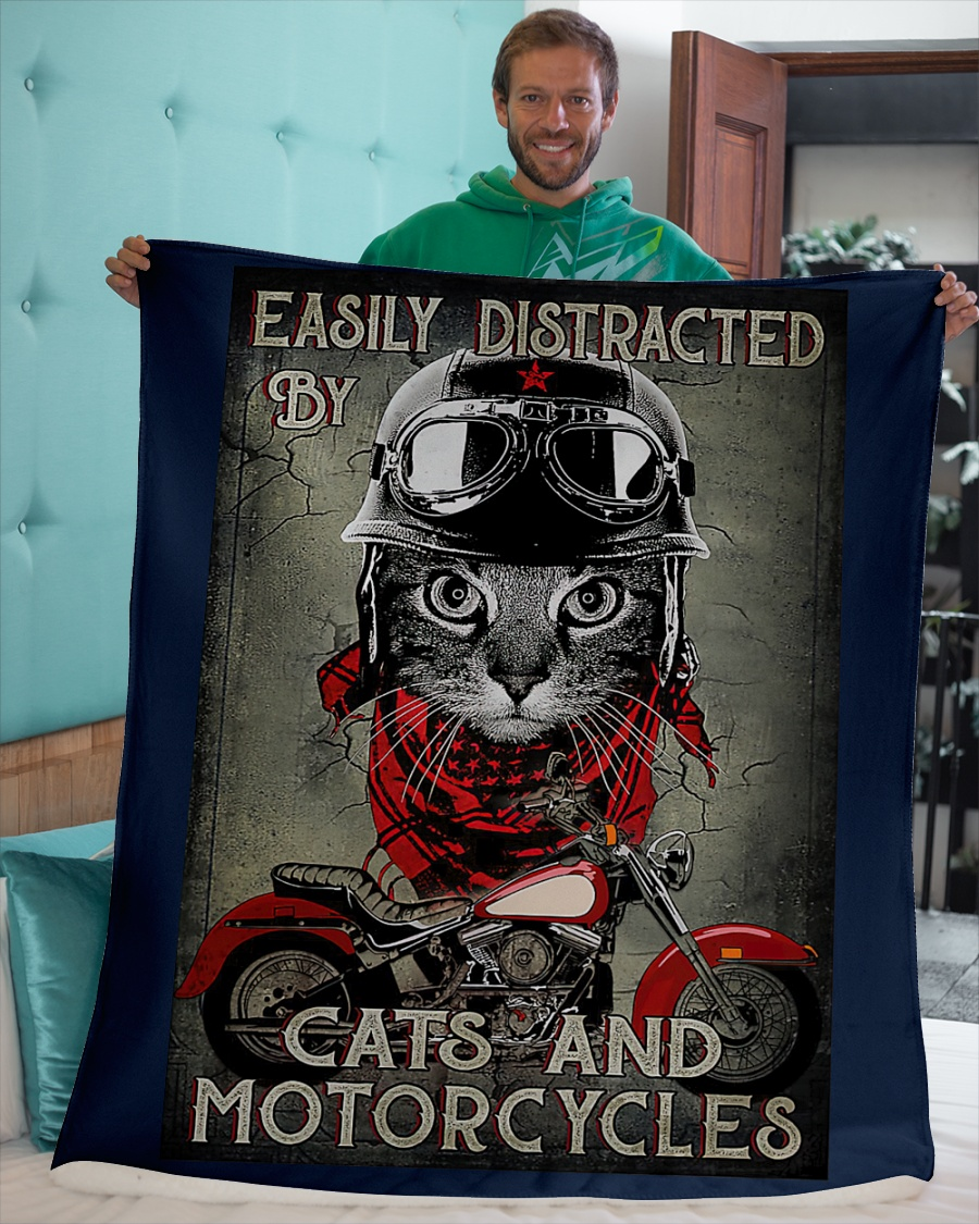 Easily distracted by cats and motorcycles poster7