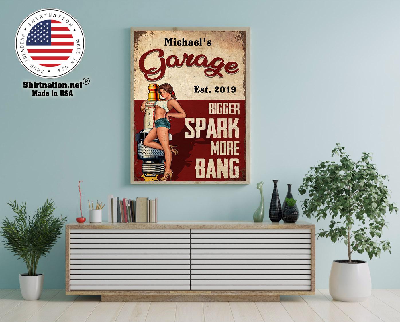 Garage bigger spark more bang poster 12